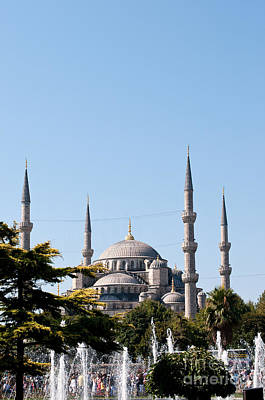 Photograph - Blue Mosque Blue Sky 02 by Rick Piper Photography