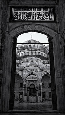 Byzantine Photograph - Blue Mosque Court Entrance by Stephen Stookey