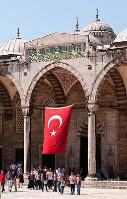 Photograph - Blue Mosque Courtyard Portico by Rick Piper Photography