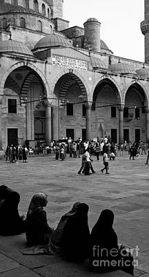 Photograph - Blue Mosque Courtyard by Rick Piper Photography