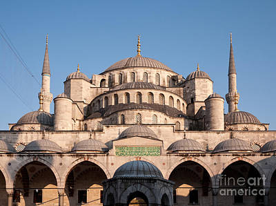 Photograph - Blue Mosque Domes 01 by Rick Piper Photography