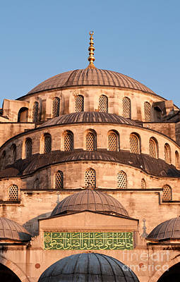 Photograph - Blue Mosque Domes 02 by Rick Piper Photography