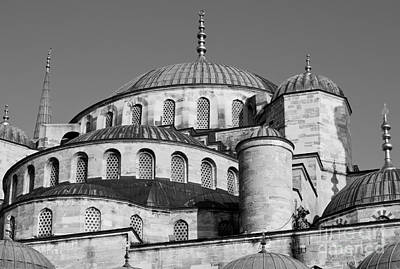 Photograph - Blue Mosque Domes 06 by Rick Piper Photography