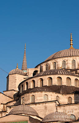 Photograph - Blue Mosque Domes 07 by Rick Piper Photography