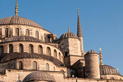 Photograph - Blue Mosque Domes 08 by Rick Piper Photography