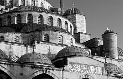 Photograph - Blue Mosque Domes 10 by Rick Piper Photography