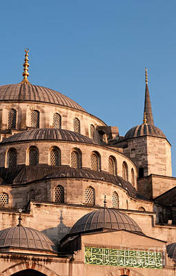 Photograph - Blue Mosque Domes 11 by Rick Piper Photography