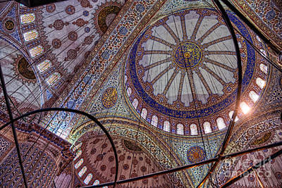 Photograph - Blue Mosque Istanbul by Nigel Fletcher-Jones