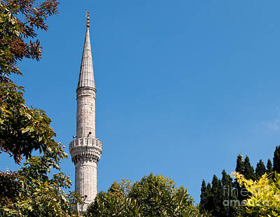 Photograph - Blue Mosque Minaret 01 by Rick Piper Photography