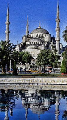 Byzantine Photograph - Blue Mosque by Stephen Stookey