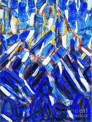 Painting - Blue Mountain - Abstraction by Roberto Prusso
