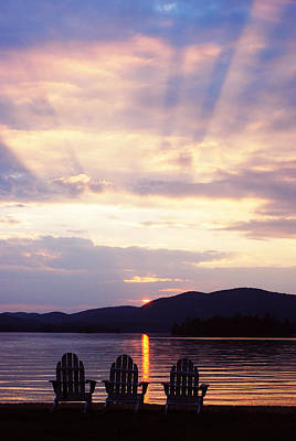 Photograph - Blue Mountain Lake Ny by David Seguin