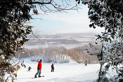 Photograph - Blue Mountain Ontario Skiing by Andrea Kollo