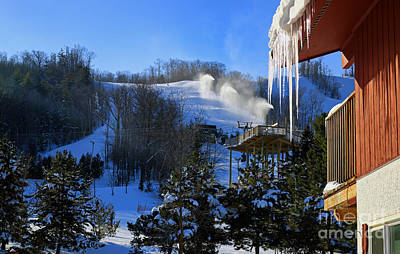 Photograph - Blue Mountain Ski Resort by Charline Xia