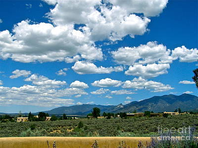 Photograph - Blue Mountain Skies by LeLa Becker