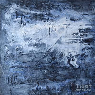 Blue Mountain Art Print by Susan  Dimitrakopoulos