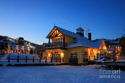 Photograph - Blue Mountain Village Night by Charline Xia