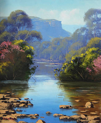 Blue Mountains River Art Print