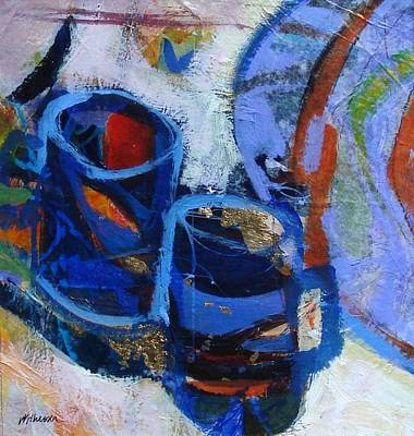 Blue Mugs Art Print by Dale  Witherow