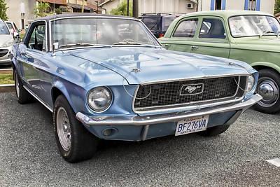 Blue Mustang Art Print