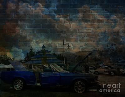 Photograph - Blue Mustang Graffitti by Bobbee Rickard