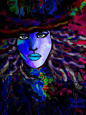 Blue Mystique Art Print by Natalie Holland