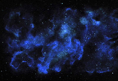 Glow In The Dark Painting - Blue Nebula by Frank Wilson