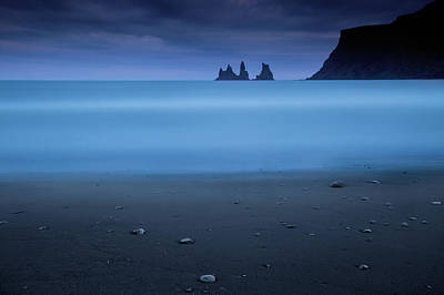 Pebbles Photograph - Blue Night 2 by Amnon Eichelberg