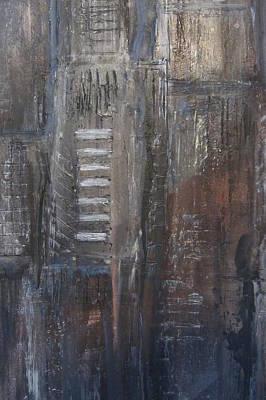 Painting - Blue Night Close Up 2 by Anita Burgermeister