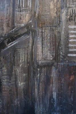 Painting - Blue Night Close Up 3 by Anita Burgermeister