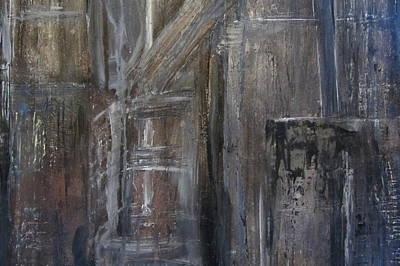 Painting - Blue Night Close Up 4 by Anita Burgermeister