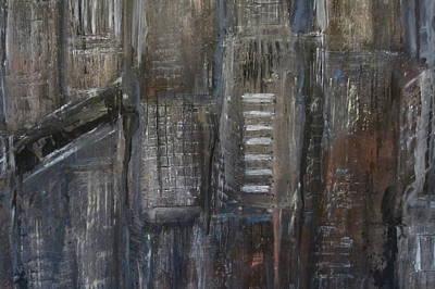 Painting - Blue Night Close Up 5 by Anita Burgermeister