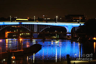 Photograph - Blue Night In Minneapolis by Kate Purdy
