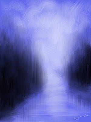 Eerie Painting - Blue Night by Kume Bryant