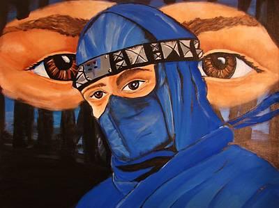 Blue Ninja Art Print by Lorinda Fore