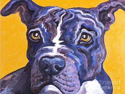 Blue Nose Pitbull Art Print