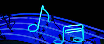 Photograph - Blue Notes In Neon by Tony Grider