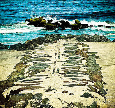 Long Branch Photograph - Blue Ocean Jetties by Colleen Kammerer