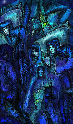 Digital Art - Blue O'clock Cloisters by Jane Schnetlage