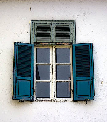 Photograph - Blue Old Window by Radoslav Nedelchev