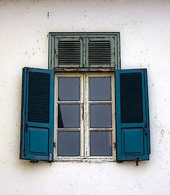 Photograph - Blue Old Window by Radoslav Nedelchev