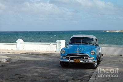Photograph - Blue Oldtimer by Angela Kail