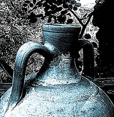 Blue Olla Art Print