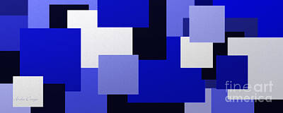 Digital Art - Blue On Blue 1 Panorama by Andee Design