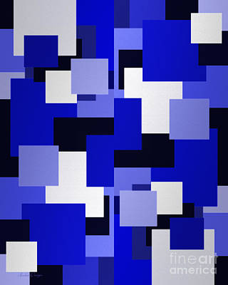 Digital Art - Blue On Blue 2 by Andee Design