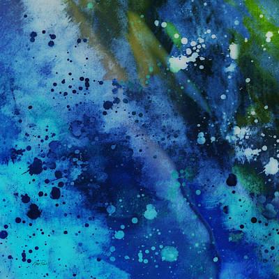 Digital Art - Blue On Blue - Abstract Art by Ann Powell