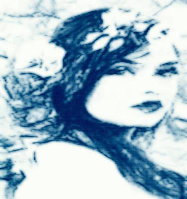 Digital Art - Blue On Blue by Catherine Lott