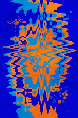 Blue Orange Abstract Art Print by Christina Rollo
