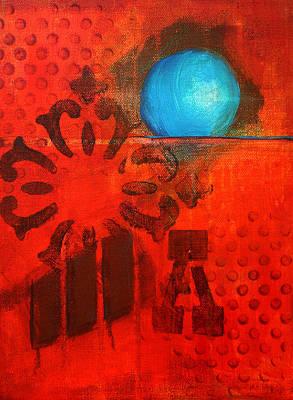 Blue Orb Original by Nancy Merkle