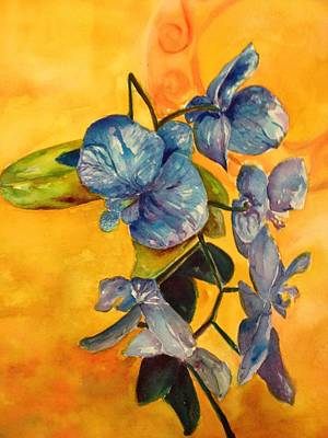 Painting - Blue Orchid  by Bobbin
